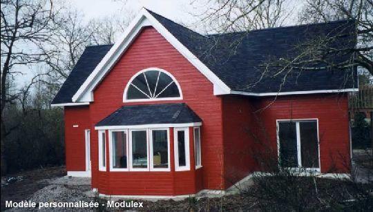 Maison prefabriquee bois  modèle avant garde Modulex Contact