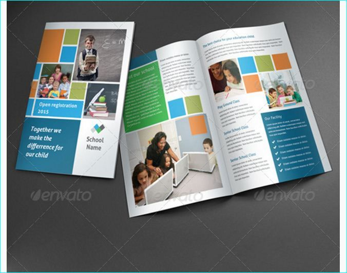 School Brochure Template For Education Institution   School