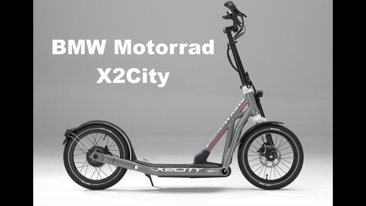 bmw motorrad x2city folding electric scooter youtube. Black Bedroom Furniture Sets. Home Design Ideas