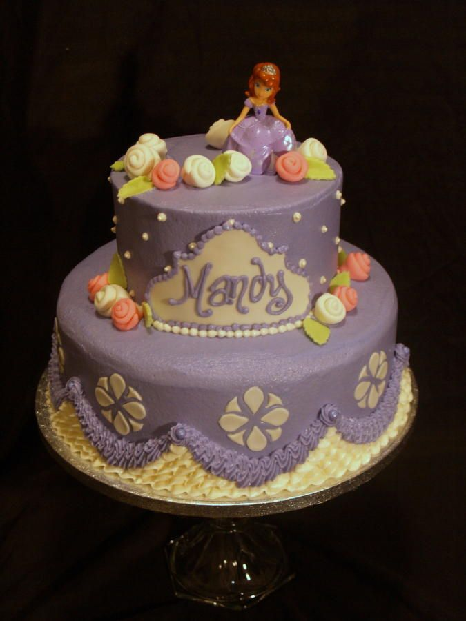 Sofia the First Buttercream Cake Designs Pinterest Cake