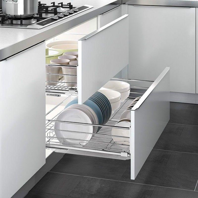 Küchenschublade Küchenschrank Teleskop Schublade Korbauszug ...