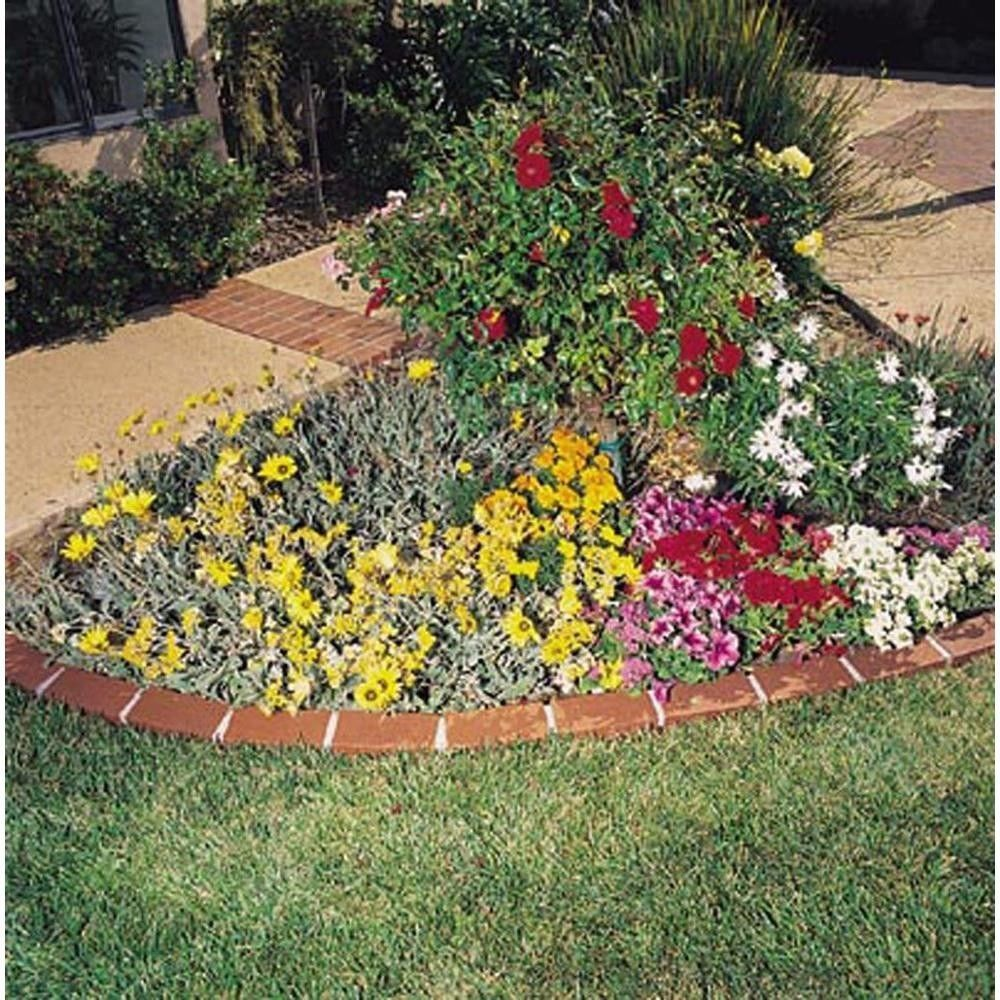 Garden Lawn Edging Landscape Border Decorative Plastic Brick ...