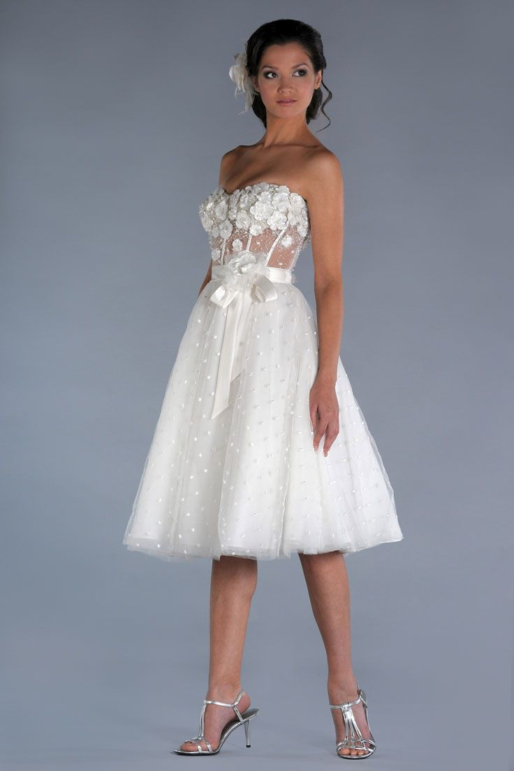 Short prom style wedding dresses  Short wedding dress  like it all but need some straps  polka dots