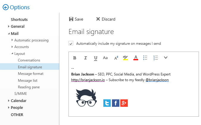 How To Use An Image In Your Email Signature With Office 365 Email Signatures Outlook 365 Email Office 365
