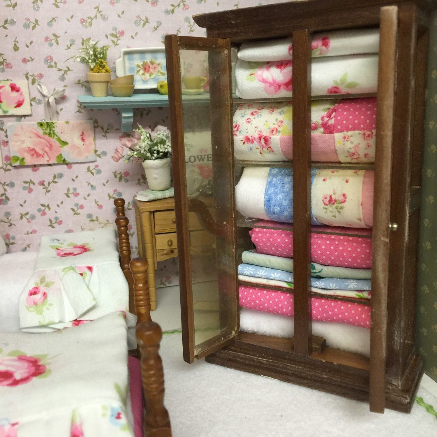 A personal favorite from my Etsy shop https://www.etsy.com/listing/222930162/vintage-miniature-dollhouse-quilt-hutch