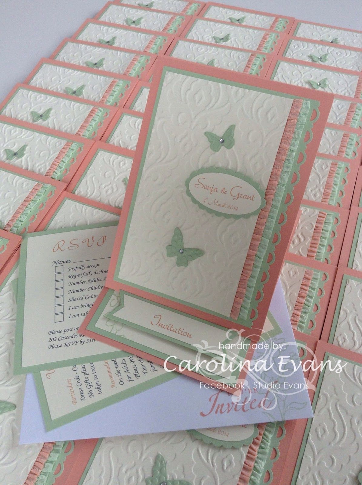 In colour Wedding Invites For more Stampin' Up