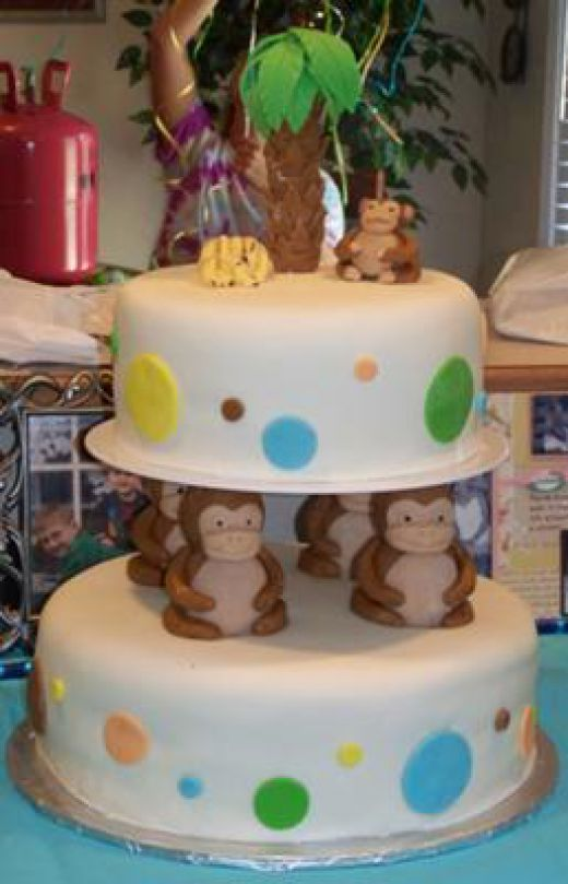 Monkey Birthday Cakes Cupcakes and Cookies Monkey birthday
