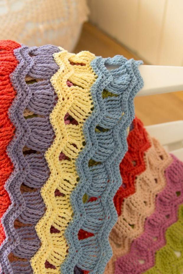 guiño-acreativebeing-vintage-fan-rizado-crochet-afgano-manta-1 ...