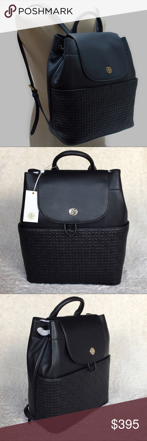 92c08b8d32d7 NEW TORY BURCH BRYANT QUILTED LEATHER BACKPACK Authentic. Brand new with  tags. This backpack