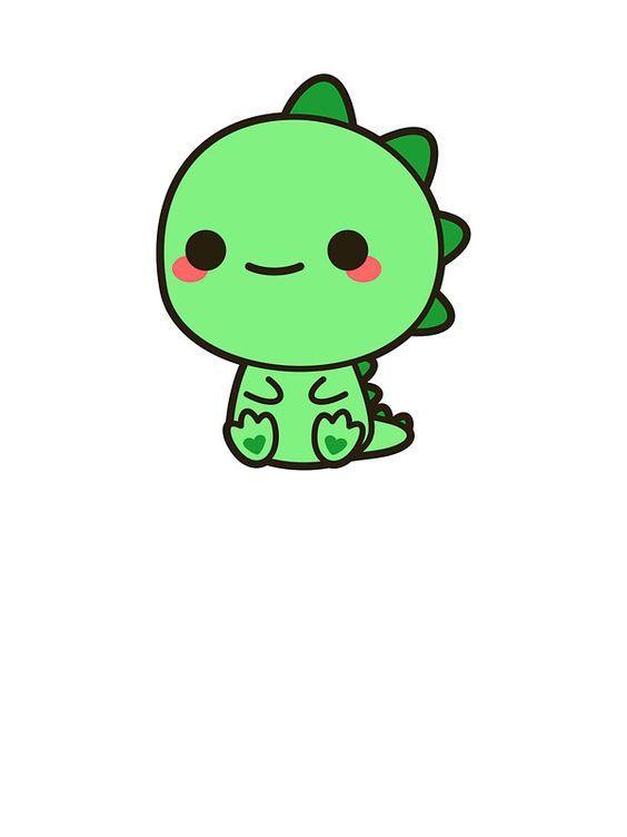 Pin By ณ ฐ กฤ ตา น ม ต ร น ว ฒน On Chibi ちび Cute Kawaii Drawings Cute Animal Drawings Kawaii Kawaii Dinosaur