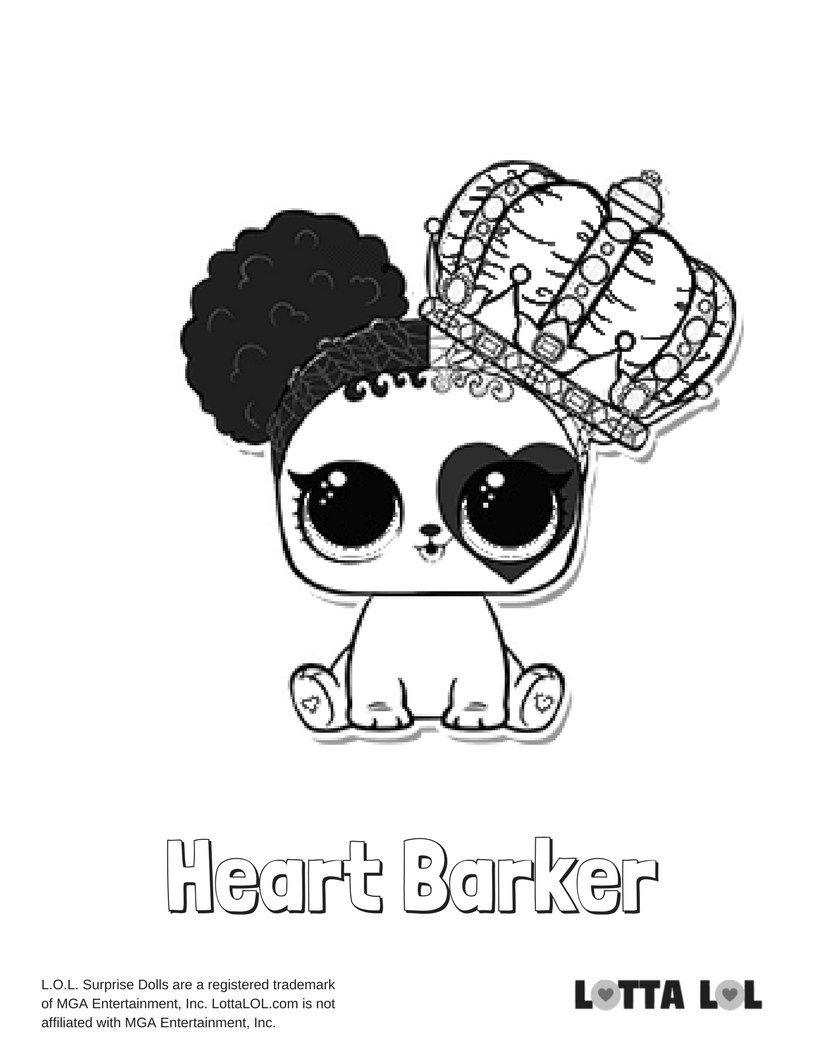 Heart Barker Coloring Page Lotta LOL