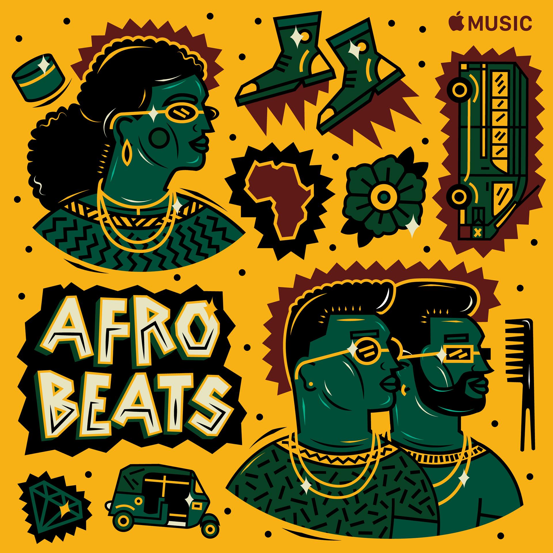 Apple Music Afrobeats Hits Playlist Cover Art on Behance