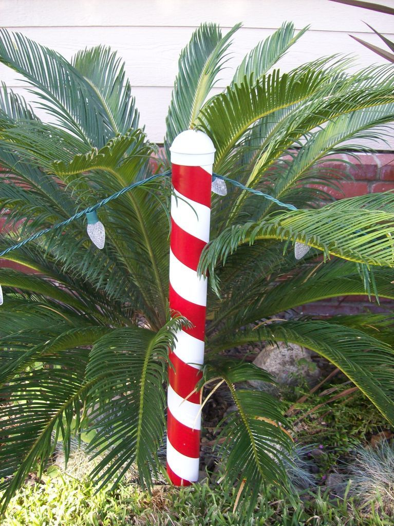 Christmas Candy Cane Post - Christmas Candy Cane Post Candy Canes, Tutorials And Pvc Pipe