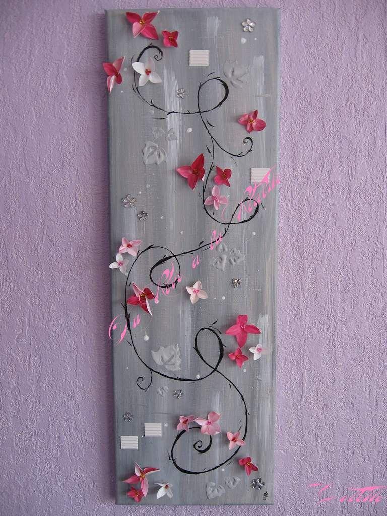 52 tableau en relief petites fleurs en plastique du r ve la r alit loisirs cr atifs. Black Bedroom Furniture Sets. Home Design Ideas