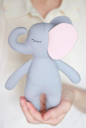 PDF Elephant Sewing Pattern & Tutorial — DIY Jungle Animal Rag Doll ...