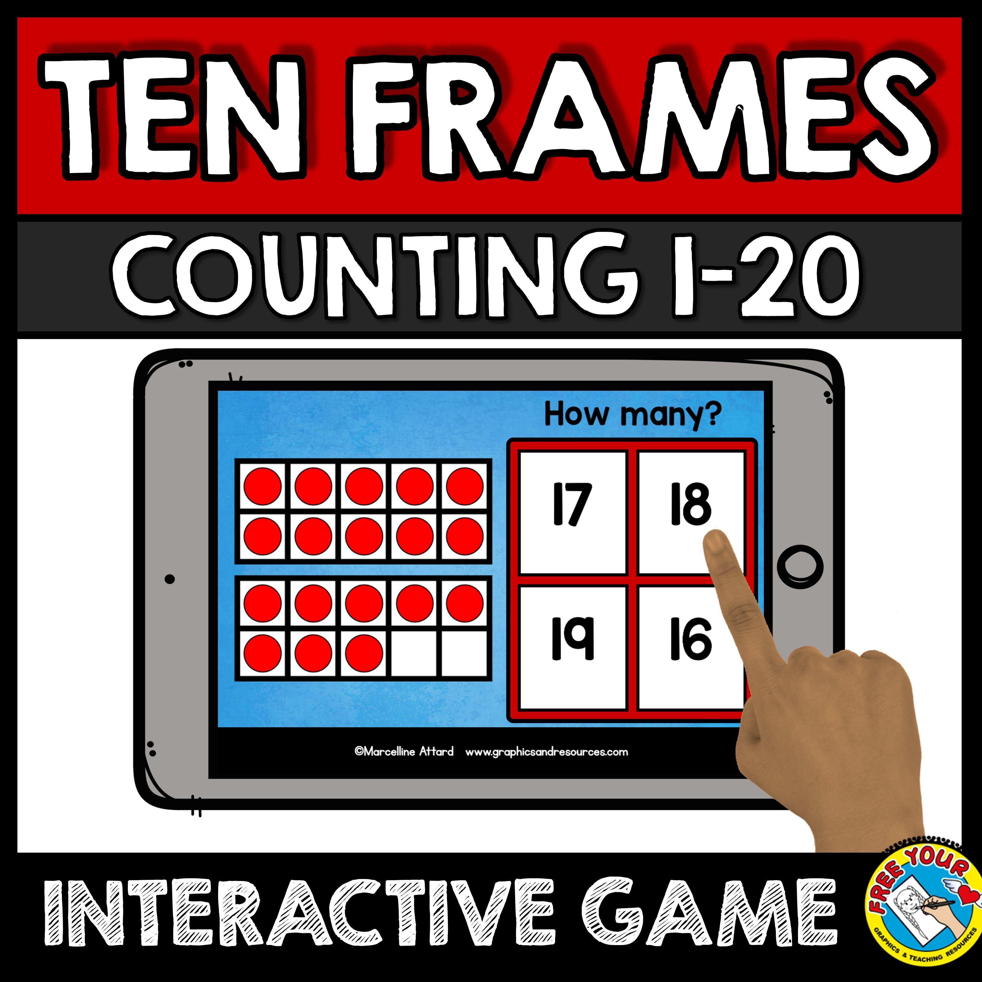 Counting Ten Frames Game Kindergarten Math A Fun Ten