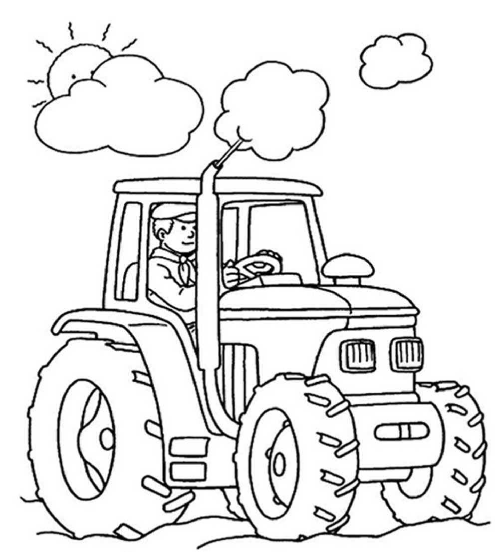 Toddler coloring pages of tractors - 25 Best Tractor Coloring Pages To Print Http Procoloring Com 25