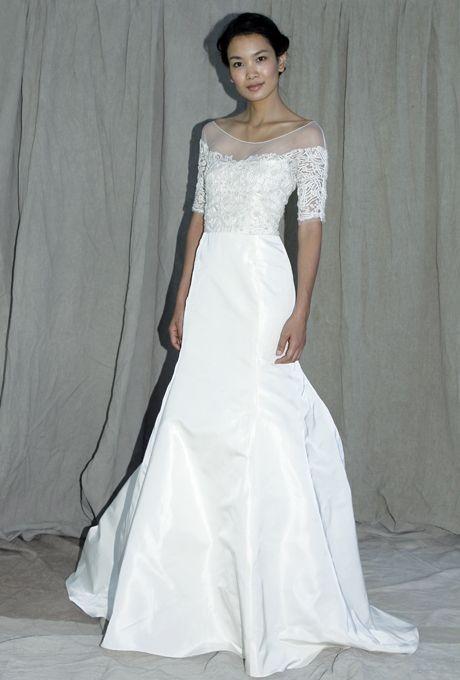 Lela Rose - Fall 2012 - Turtle Creek Silk Mermaid Wedding Dress with ...