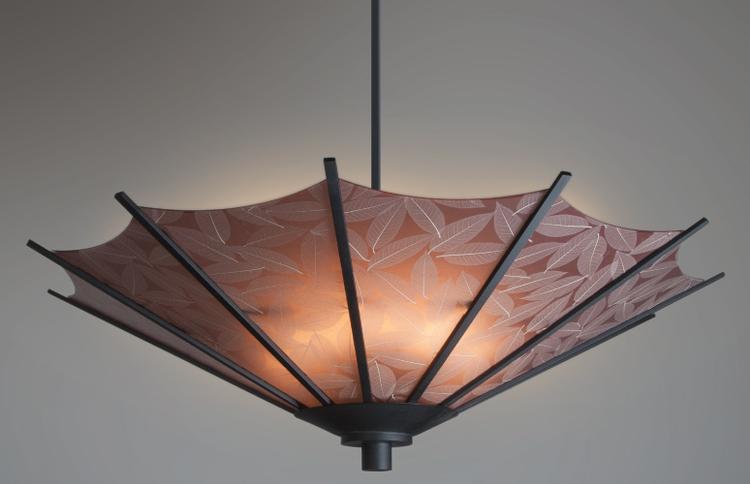 Custom Made Asian Inspired Parasol Light By Hammerton Lighting