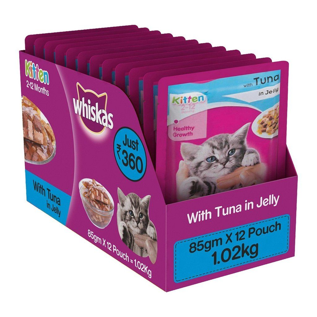 Whiskas Wet Cat Food, Tuna Flavour in Jelly for Kittens (2