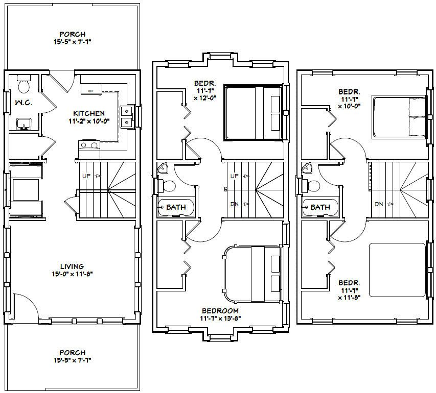 16x30 house 16x30h20c 1 352 sq ft excellent floor