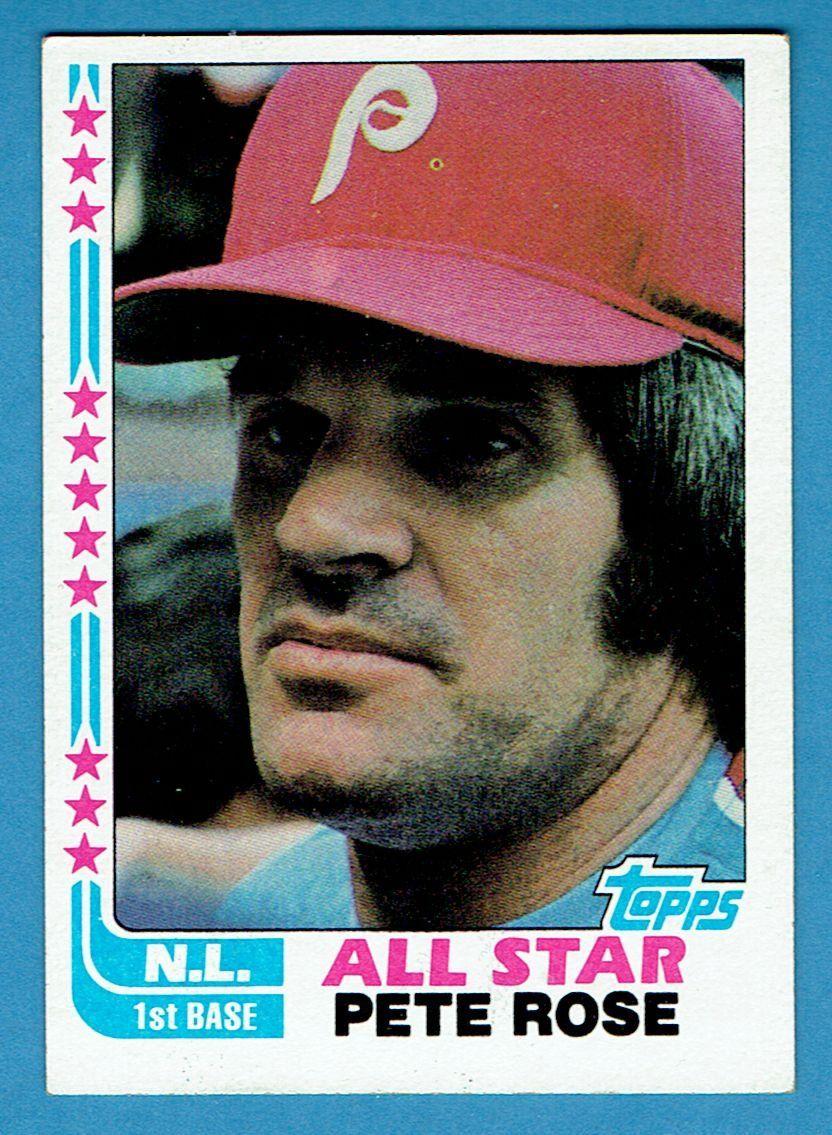 Pete+Rose+1982+Topps+All+Star180+Phillies+Baseball+Card