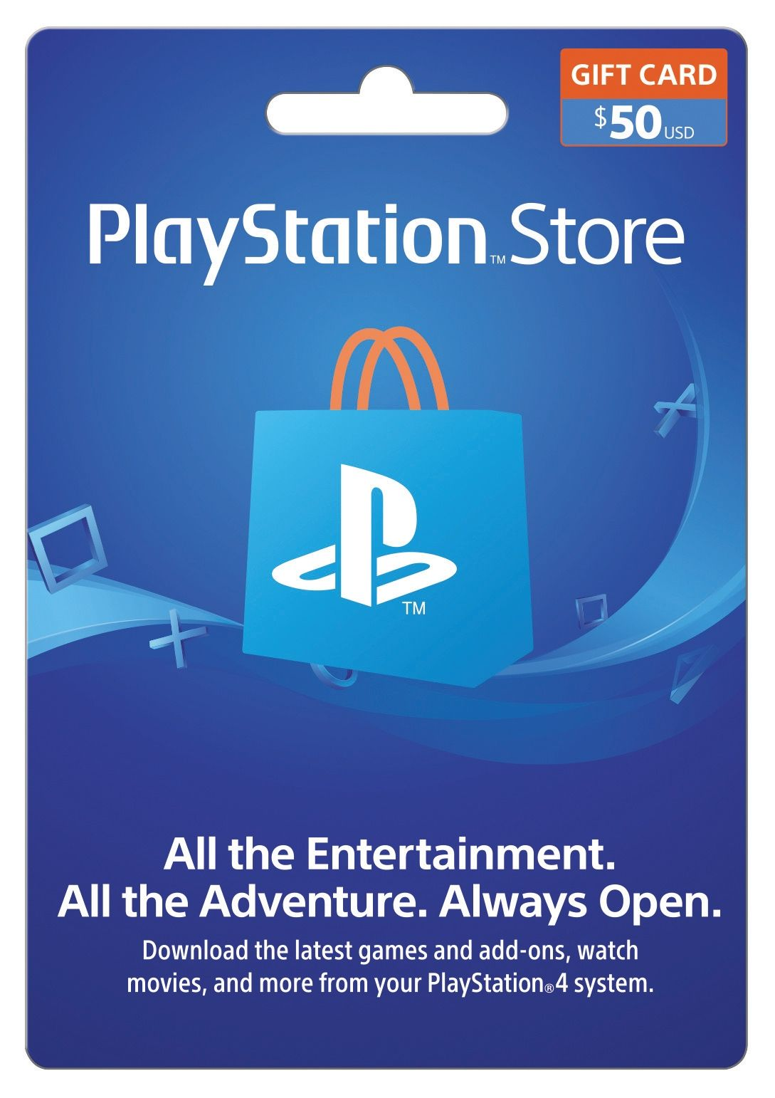 Playstation Store 50 Gift Card Sony Digital Download Get