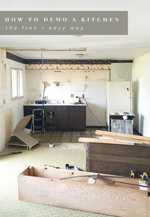 How To Demo A Kitchen The Free Easy Way Kitchens
