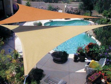 Shade Sails Turn Your Backyard Into A Summer Resort Prlog Pool Shade Coolaroo Shade Sail Backyard Shade