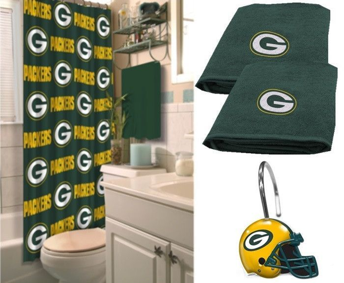Green Bay Packers NFL Deluxe Bath Set At Sportsfansplus.com