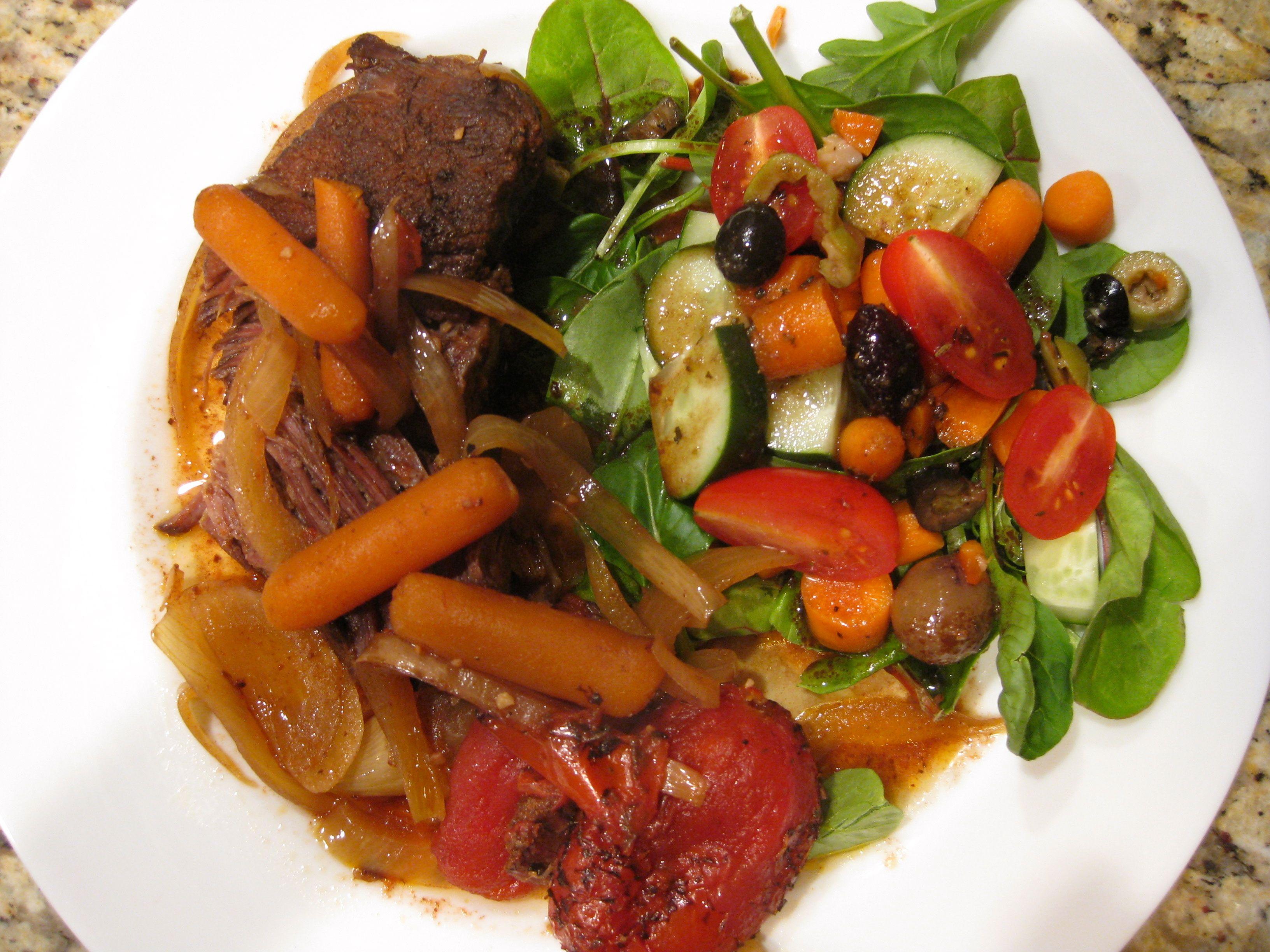 Balsamic tomato pot roast pot roast dinner low carb meats