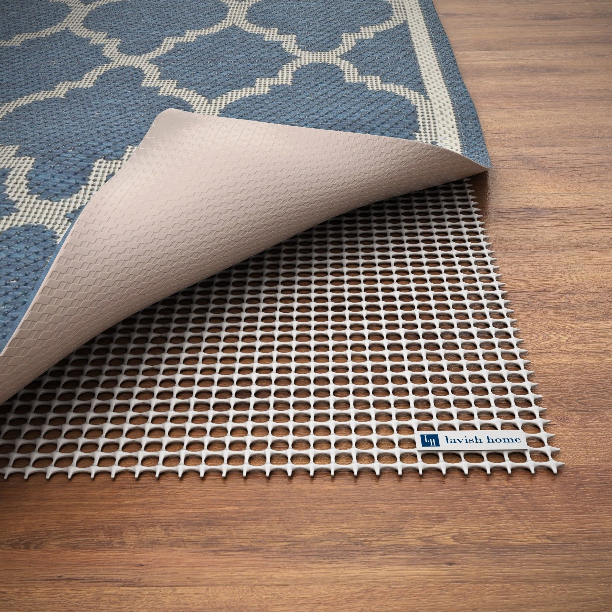 Non Slip Rug Pad Rubber Non Skid Gripper For Area Rugs On Hard