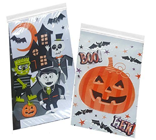Halloween #Candy #Bags - #80 #Count #Zipper #Seal #Trick or #Treat - halloween candy treat ideas