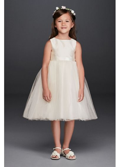 c52c8e5c5a35 Flower Girl Dress with Tulle and Ribbon Waist OP218