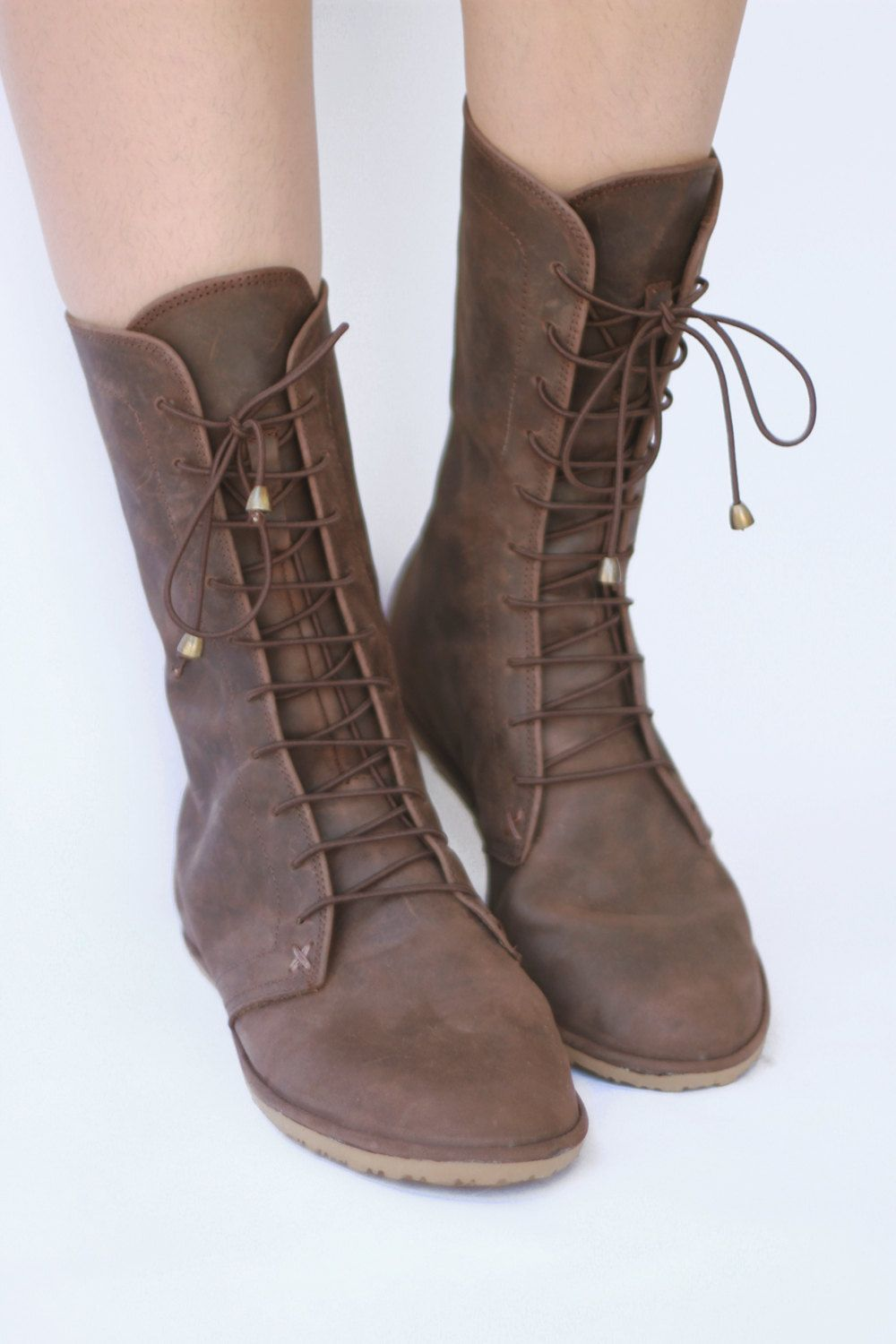 Deco boots in Brown - Handmade Leather Boots - CUSTOM FIT