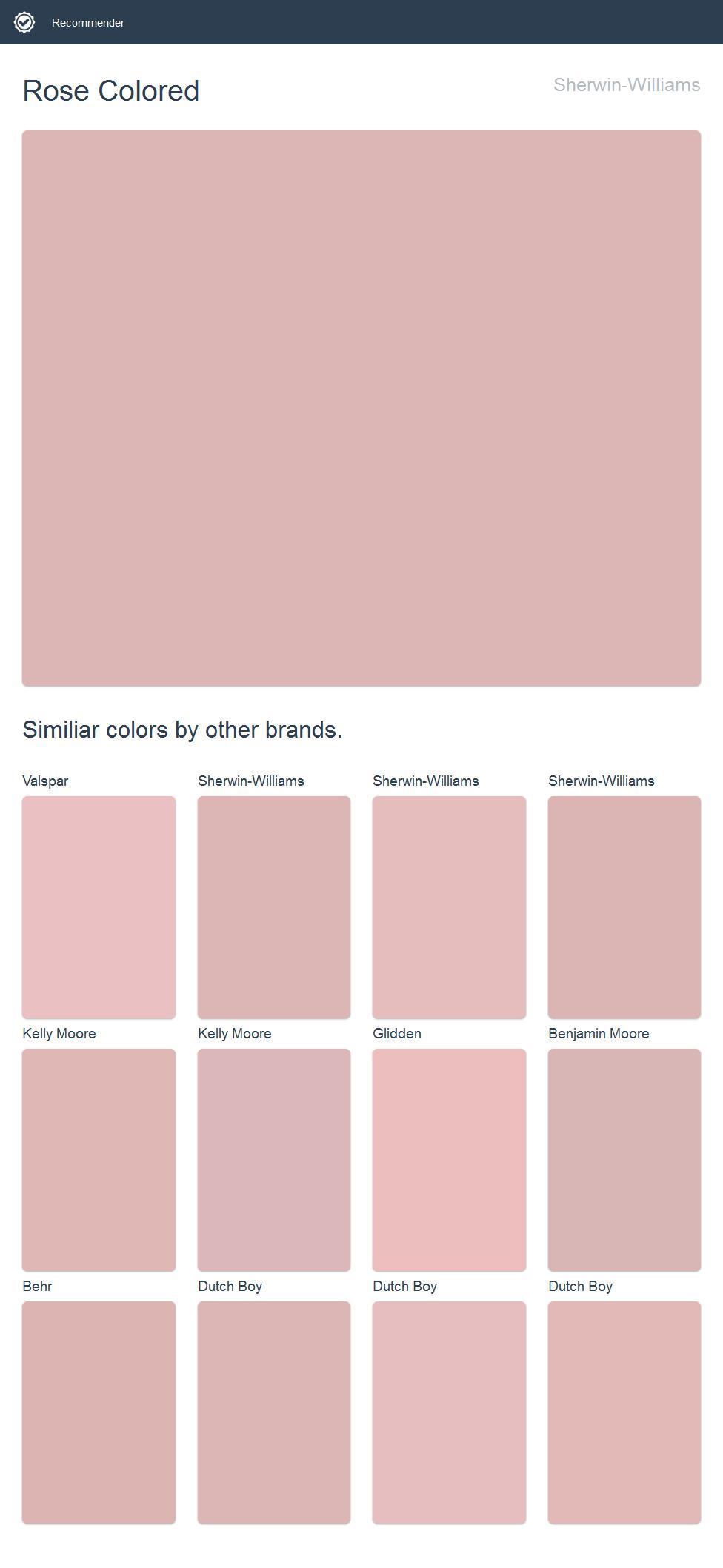 Rose Colored, Sherwin-Williams.   2017 - Sherwin-Williams Paint ...