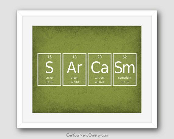 Periodic element word poster sarcasm wall art by getyournerdon periodic element word poster sarcasm wall art by getyournerdon urtaz Choice Image