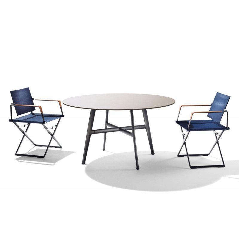 DEDON SeaX Esstisch rund, SeaX Outdoor Loungemöbel Gartenmöbel - interieur trends im sommer inspiration bilder