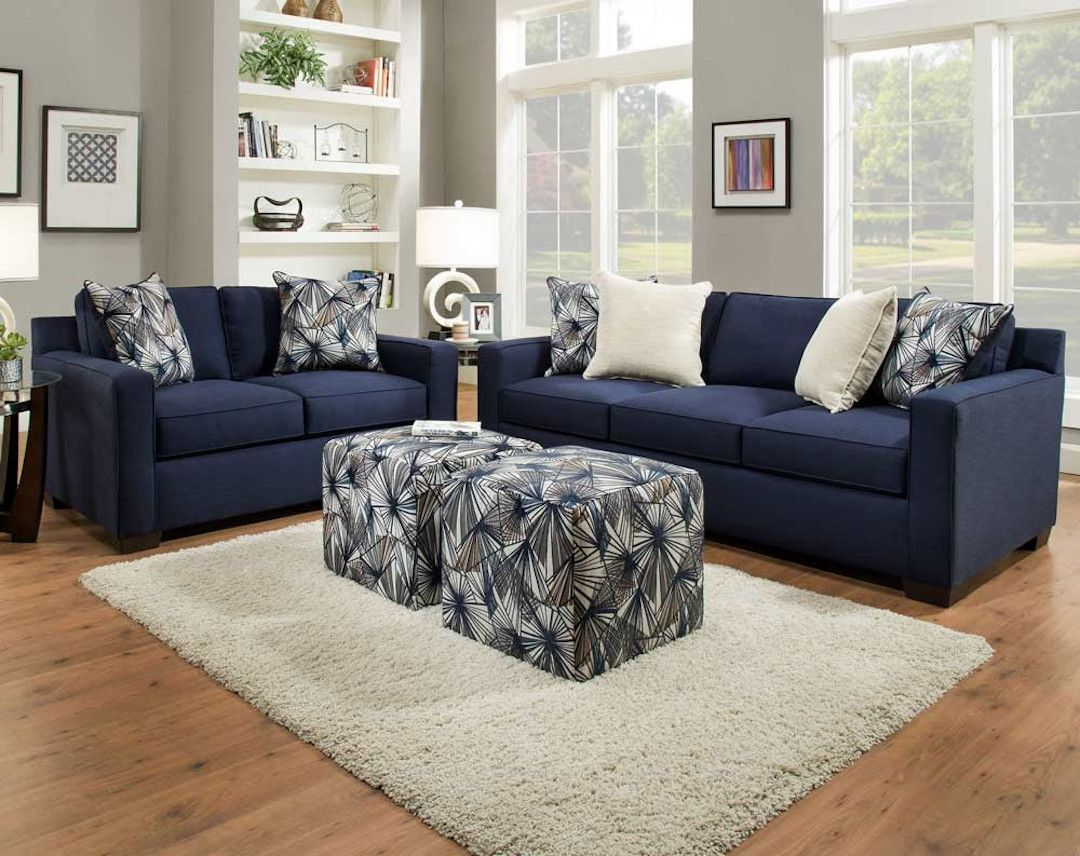 Blue Sofa Loveseat A Real Conversation Piece American Freight Blog Blue Sofas Living Room Blue Sofa Living Sofa And Loveseat Set