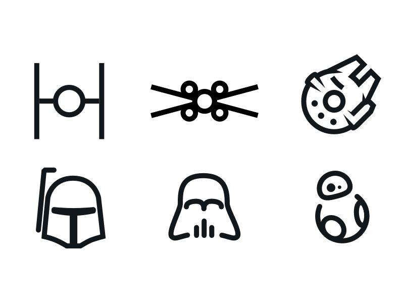 Minimal Ist Star Wars Icons Star Wars Icons Star Wars