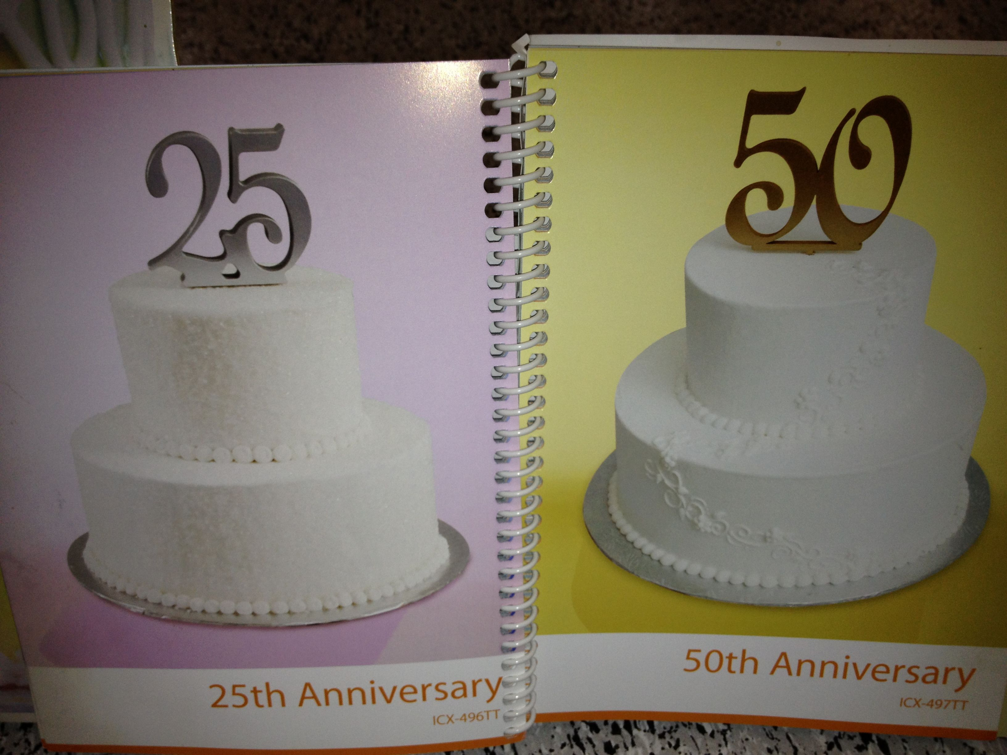Walmart Wed Ann Cakes 2 50th Wedding Anniversary