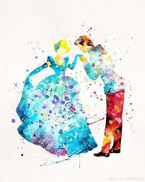 Cinderella Art, Prince Charming, Cinderella Print ...