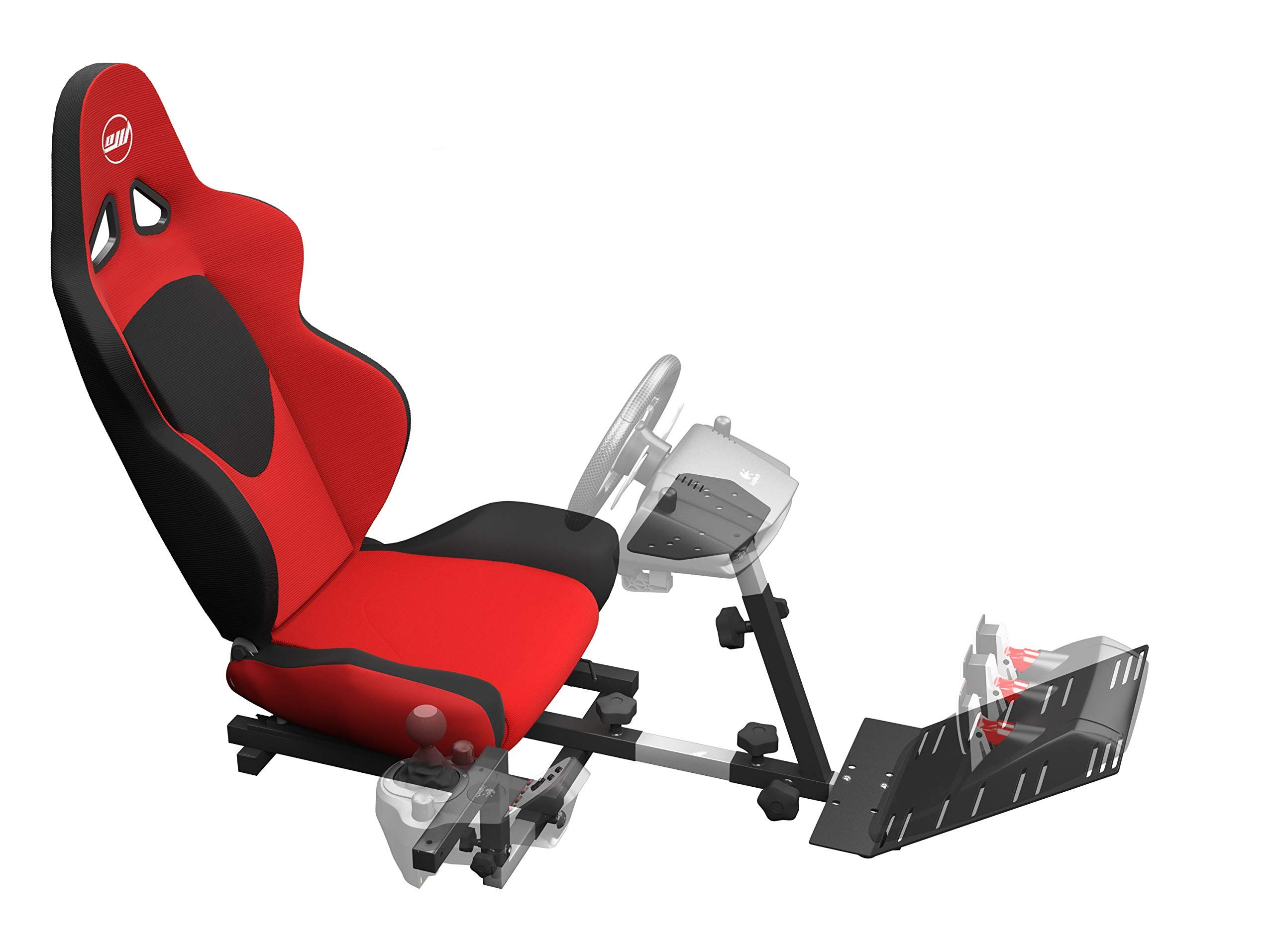f4695880202 OpenWheeler GEN2 Racing Wheel Stand Cockpit Red on Black Fits All Logitech  G29 G920 All Thrustmaster All Fanatec Wheels,#Stand, #Cockpit, #Red, #Wheel