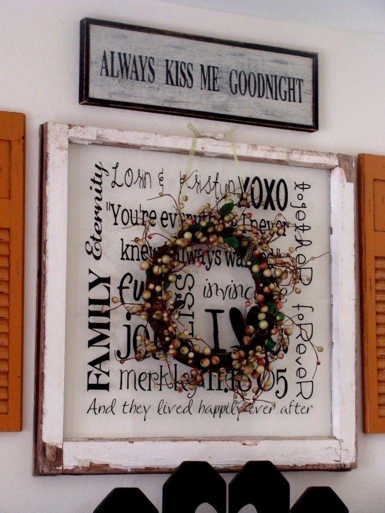 Vintage Window Wreath Tutorial Craft Ideas Vintage