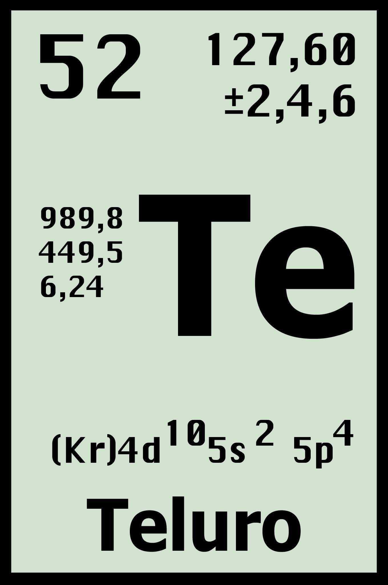 Telurio elemento tabla periodica cerca amb google qe pinterest telurio elemento tabla periodica cerca amb google urtaz Image collections
