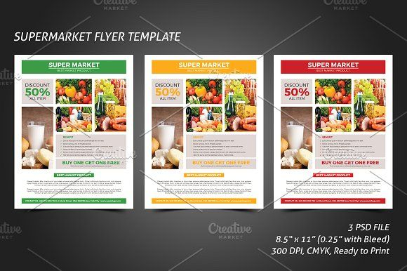 Supermarket Flyer Template Flyer Template Template And Business