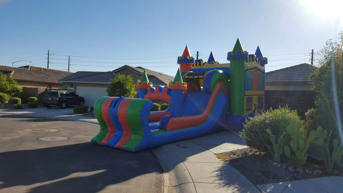 Combo bounce house with water slide bounce house bounce