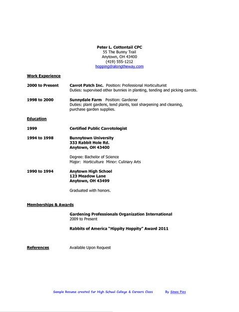 Resume Example Log In Job Resume Samples College Resume Template High School Resume