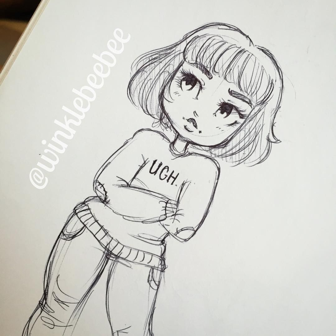 Character Design Idea By Winklebeebee Cute Drawings Pencil