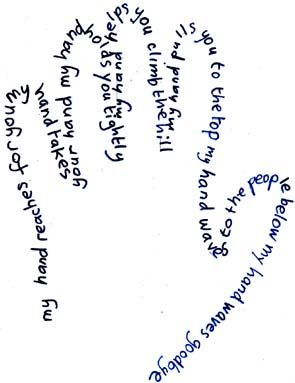 Example of Hand Poem | Teaching Ideas | Shape poems for kids
